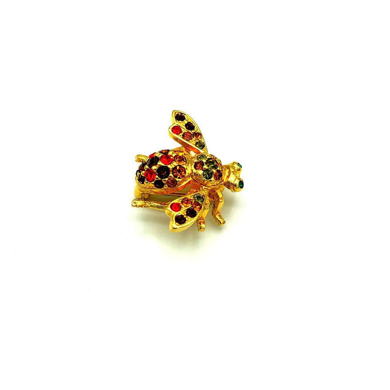 Petite Gold Joan Rivers Bee Brooch