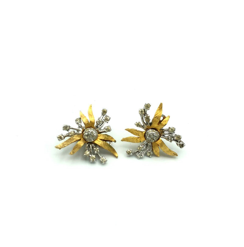 Polcini Classic Floral Rhinestone Vintage Earrings-Sustainable Fashion with Vintage Style-Trending Designer Fashion-24 Wishes