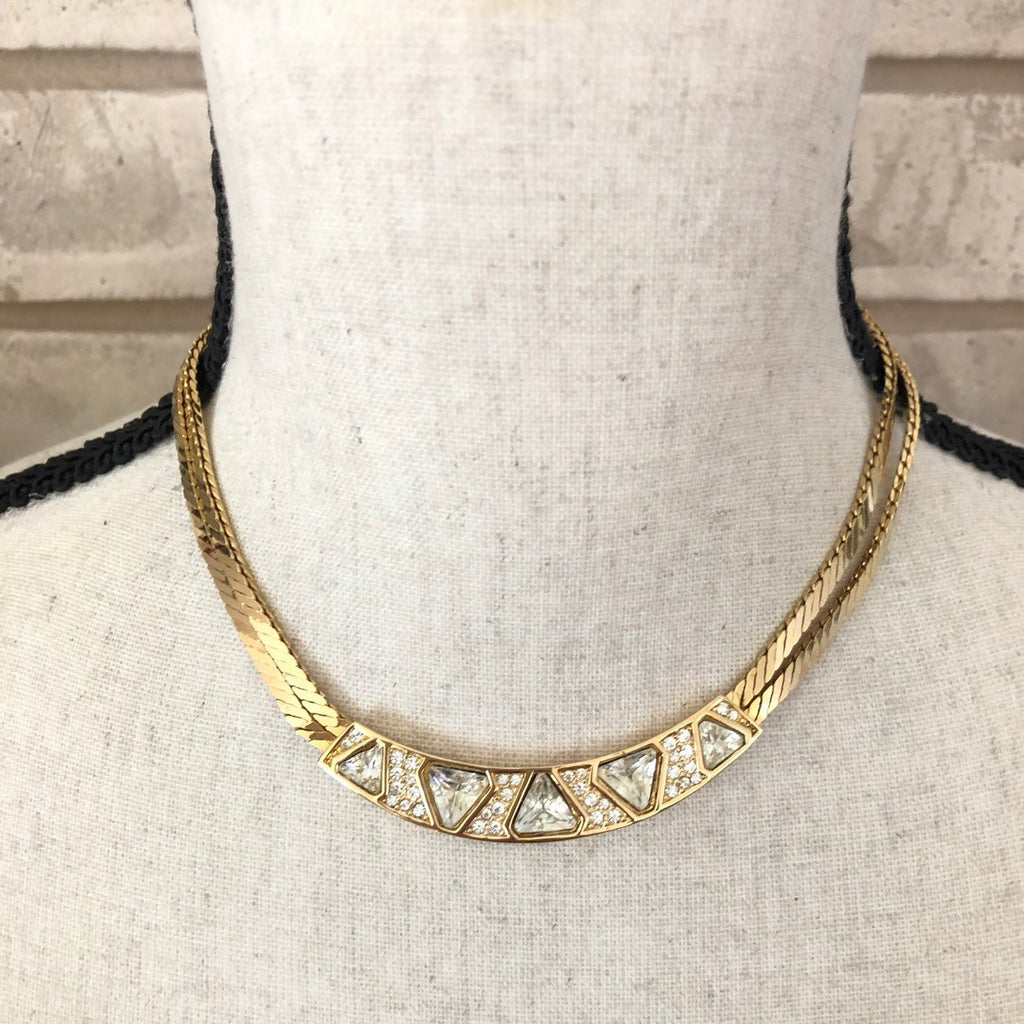 update alt-text with template Vintage Gold Christian Dior Double Chain Classic Pendant-Necklaces & Pendants-Christian Dior-[trending designer jewelry]-[christian dior jewelry]-[Sustainable Fashion]
