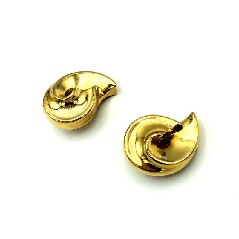Christian Dior Classic Gold Swirl Vintage Earrings
