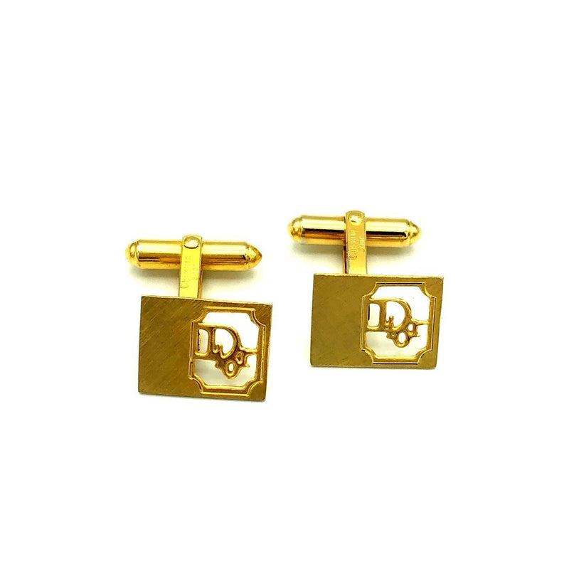 Vintage Christian Dior Logo Gold Vintage Cuff Links