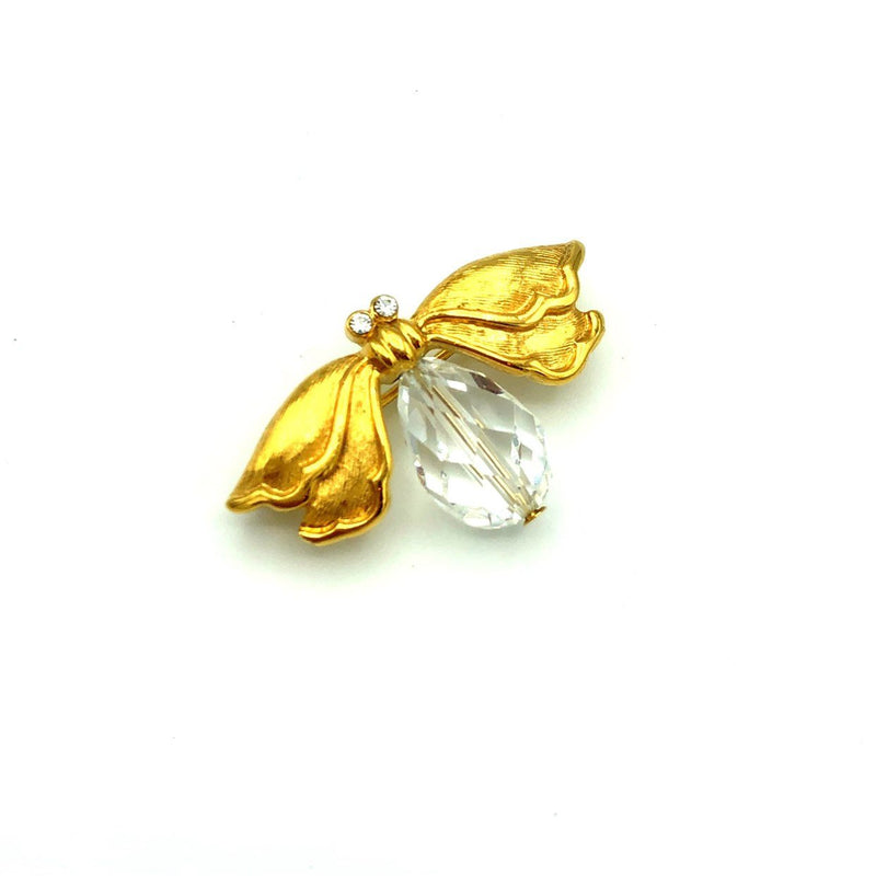 Vintage Gold Napier Crystal Firefly Brooch