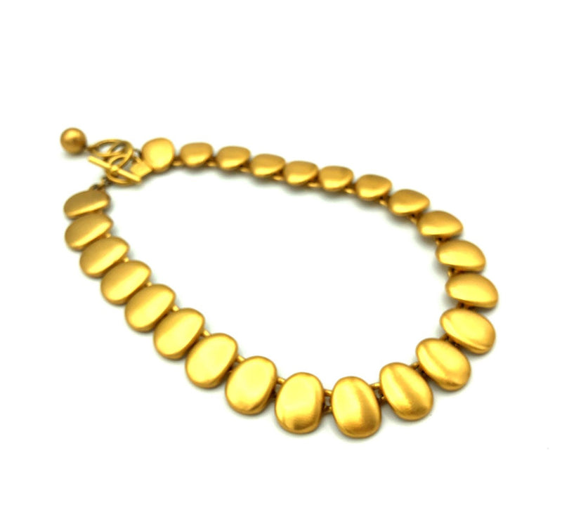Vintage Anne Klein Classic Gold Necklace-Sustainable Fashion with Vintage Style-Trending Designer Fashion-24 Wishes