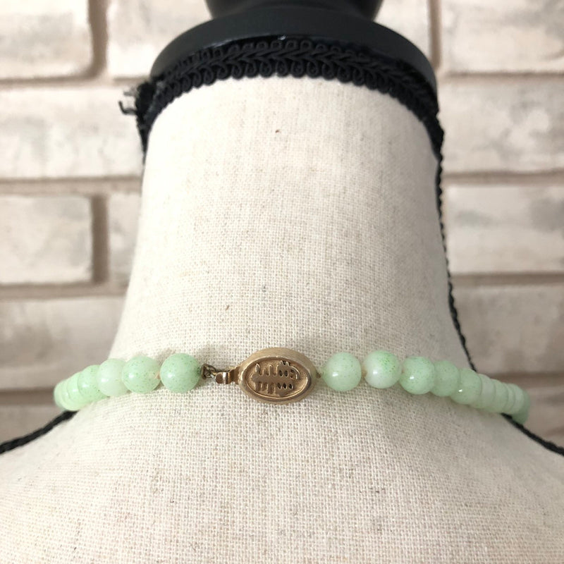 Marvella Faux Light Green Jade Bead Layering Necklace-Sustainable Fashion with Vintage Style-Trending Designer Fashion-24 Wishes