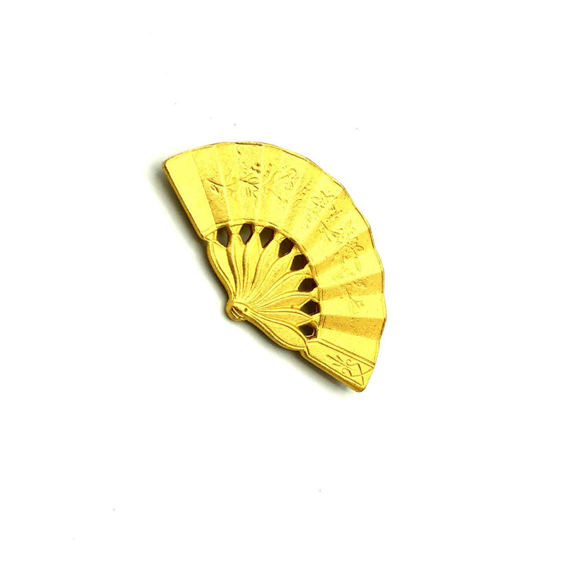 Gold Ben-Amun Vintage Asian Inspired Fan Brooch-Sustainable Fashion with Vintage Style-Trending Designer Fashion-24 Wishes