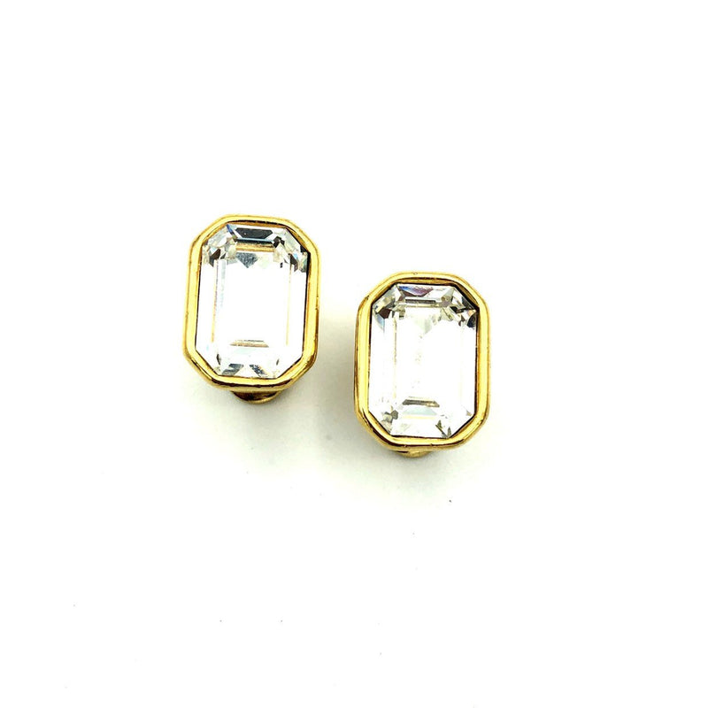 Classic Monet Diamante Rhinestone Vintage Earrings