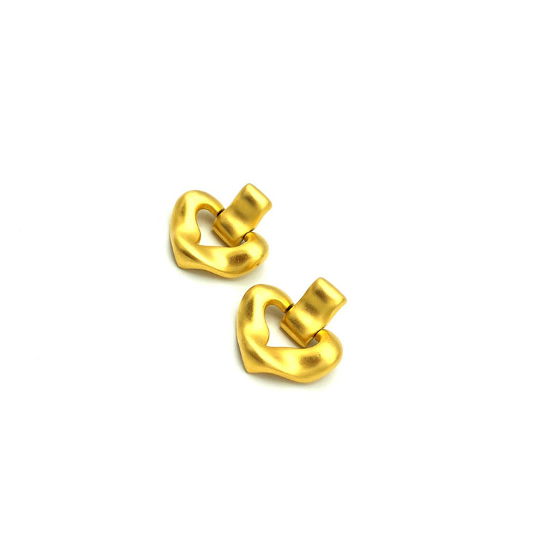 Givenchy Matt Gold Door Knocker Vintage Clip-On Earrings-Earrings-Givenchy-[trending designer jewelry]-[givenchy jewelry]-[Sustainable Fashion]