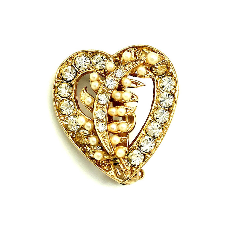 Gold Brooch Trio Vintage Hearts Brooch Scatter Pins