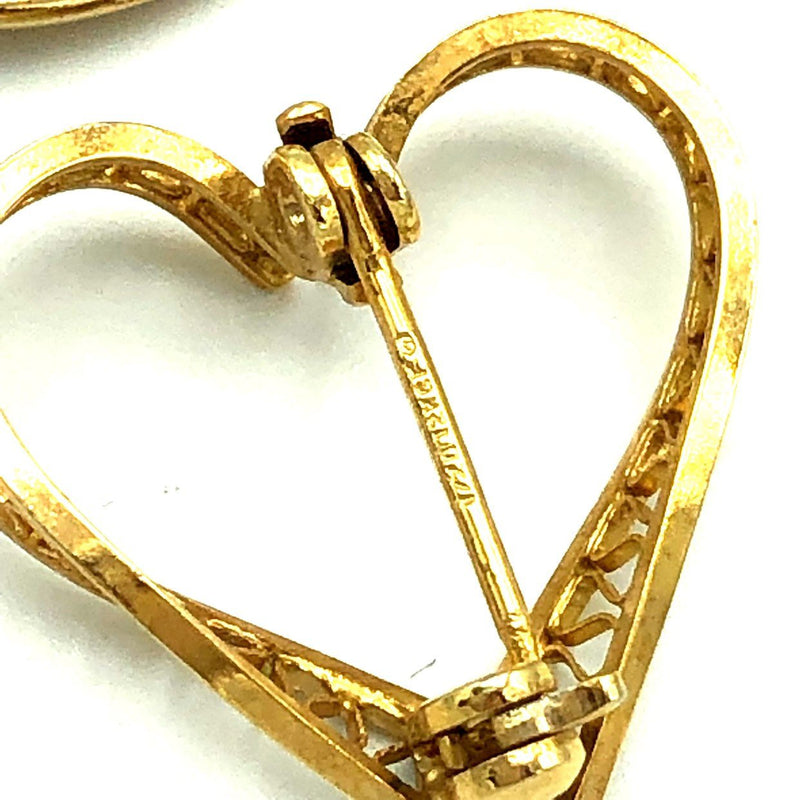 Gold Pearl Vintage Heart Brooch Scatter Pin Trio-Sustainable Fashion with Vintage Style-Trending Designer Fashion-24 Wishes