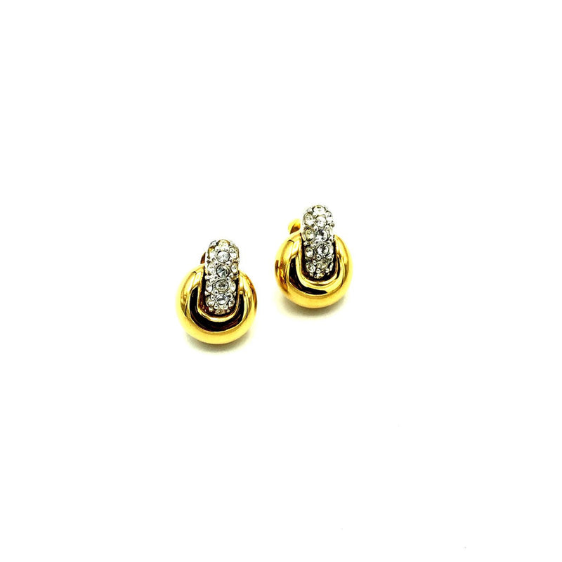 update alt-text with template Vintage Gold Swarovski Petite Door Knocker Crystal Earrings-Earrings-24 Wishes-[trending designer jewelry]-[swarovski jewelry]-[Sustainable Fashion]