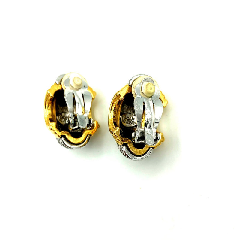 update alt-text with template Classic Joan Rivers Two Tone Vintage Earrings-Earrings-Joan Rivers-[trending designer jewelry]-[joan rivers jewelry]-[Sustainable Fashion]