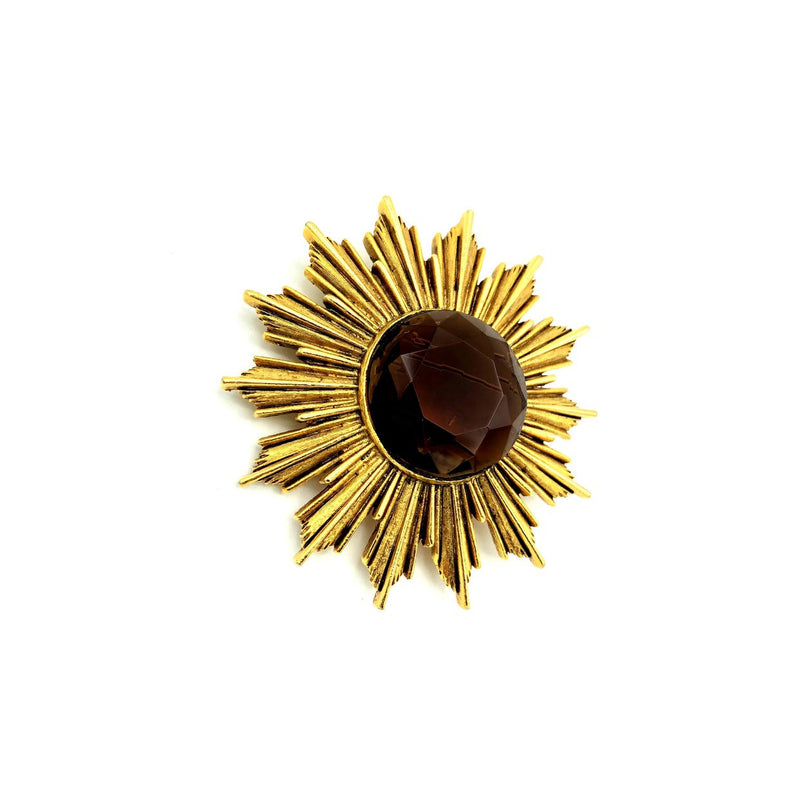 Gold Vintage Modernist Starburst Brooch-Sustainable Fashion with Vintage Style-Trending Designer Fashion-24 Wishes