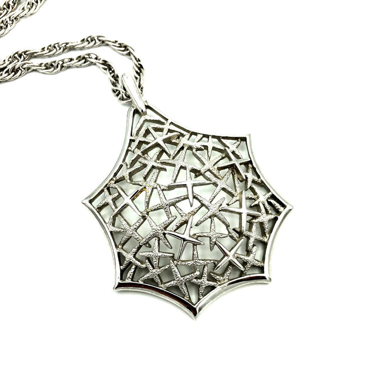 update alt-text with template Silver Crown Trifari Modernist Vintage Pendant-Necklaces & Pendants-Trifari-[trending designer jewelry]-[trifari jewelry]-[Sustainable Fashion]