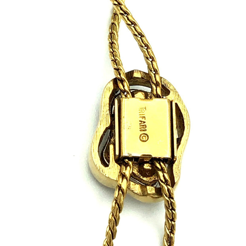 update alt-text with template Gold Crown Trifari Vintage Slider Sautoir Layering Pendant-Necklaces & Pendants-Trifari-[trending designer jewelry]-[trifari jewelry]-[Sustainable Fashion]