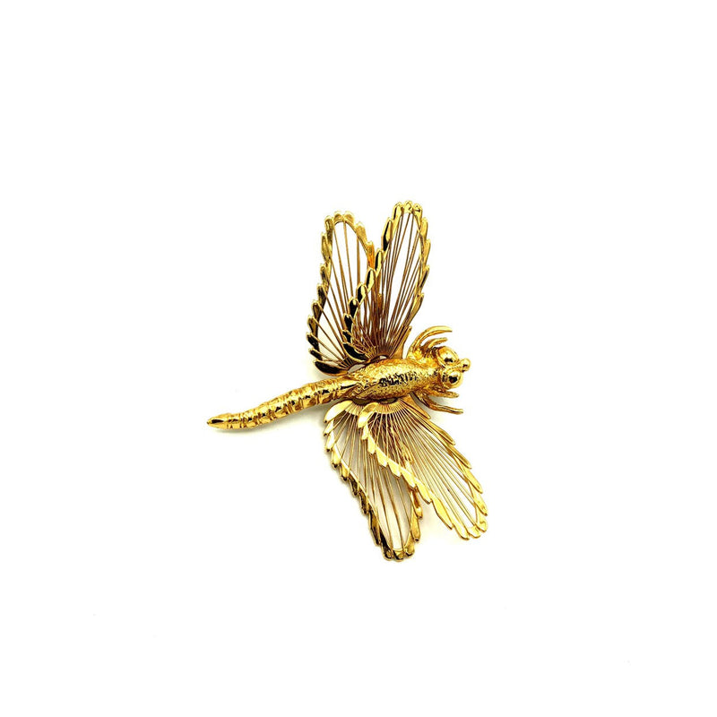 update alt-text with template Classic Monet Dragonfly Vintage Brooch-Brooches & Pins-Monet-[trending designer jewelry]-[monet jewelry]-[Sustainable Fashion]