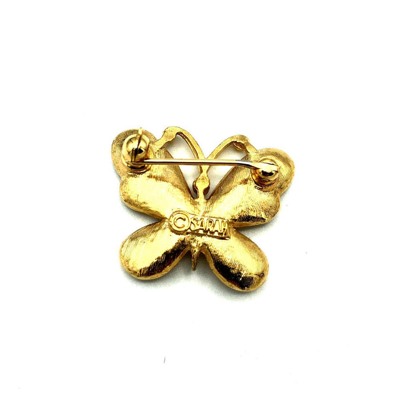Gold Petite Sarah Coventry Butterfly Vintage Brooch-Sustainable Fashion with Vintage Style-Trending Designer Fashion-24 Wishes
