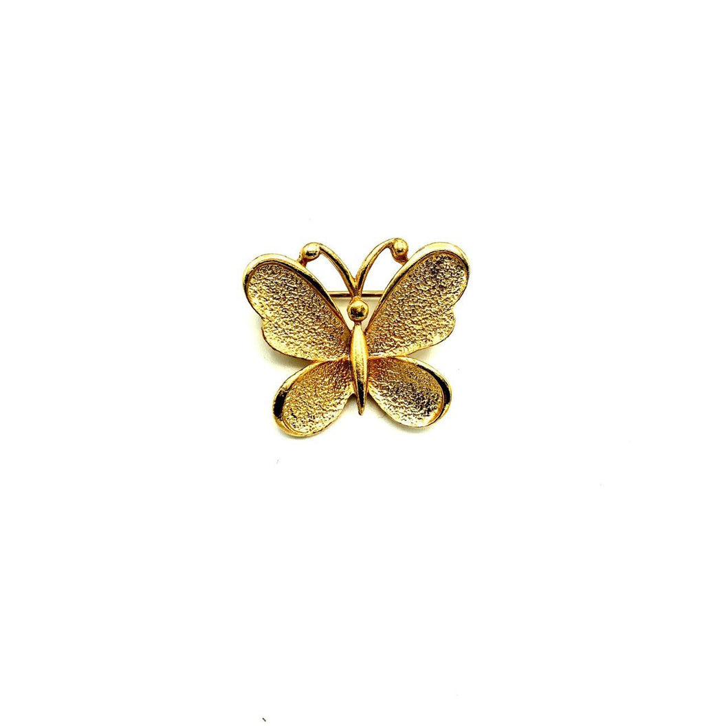 Gold Petite Sarah Coventry Butterfly Vintage Brooch