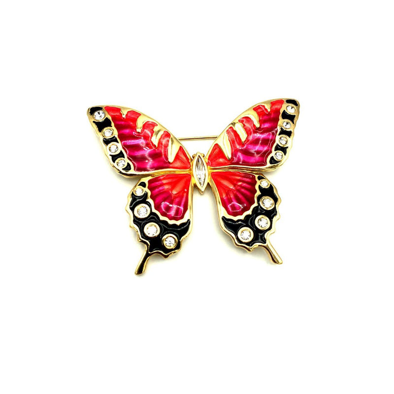 update alt-text with template Swarovski Large Enamel Rhinestone Butterfly Brooch-Brooches & Pins-24 Wishes-[trending designer jewelry]-[swarovski jewelry]-[Sustainable Fashion]