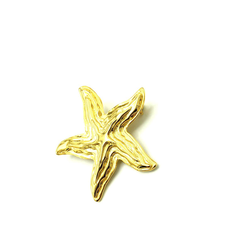 Gold Park Lane Starfish Vintage Brooch-Sustainable Fashion with Vintage Style-Trending Designer Fashion-24 Wishes