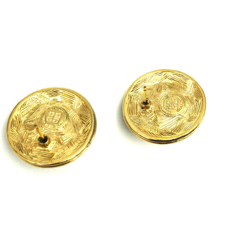 Givenchy Round Logo Vintage Earrings-Earrings-Givenchy-[trending designer jewelry]-[givenchy jewelry]-[Sustainable Fashion]