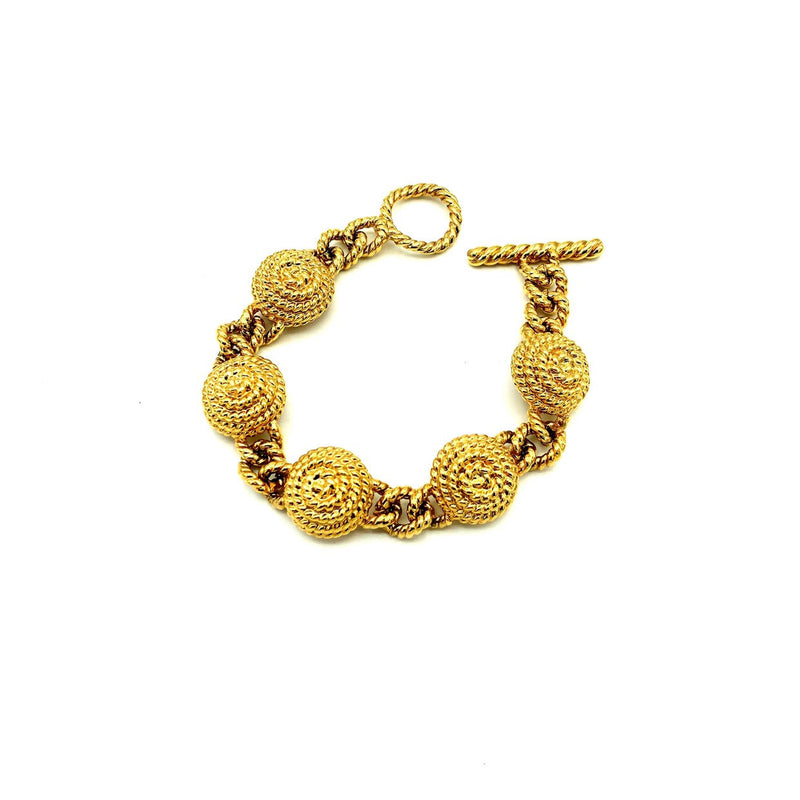 Vintage Monet Classic Gold Chunky Stacking Bracelet