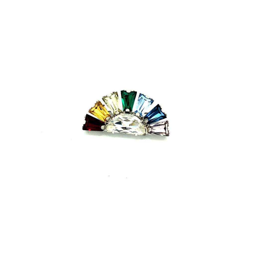 Vintage B. David Rainbow Petite Brooch-Sustainable Fashion with Vintage Style-Trending Designer Fashion-24 Wishes