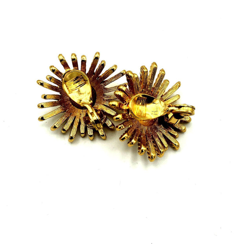 update alt-text with template Monet Gold Vintage Starburst Earrings-Earrings-Monet-[trending designer jewelry]-[monet jewelry]-[Sustainable Fashion]