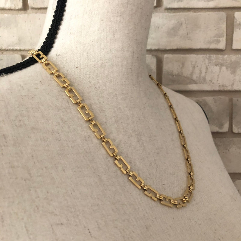 Gold Classic Givenchy Logo Long Chain Necklace-Necklaces & Pendants-Givenchy-[trending designer jewelry]-[givenchy jewelry]-[Sustainable Fashion]