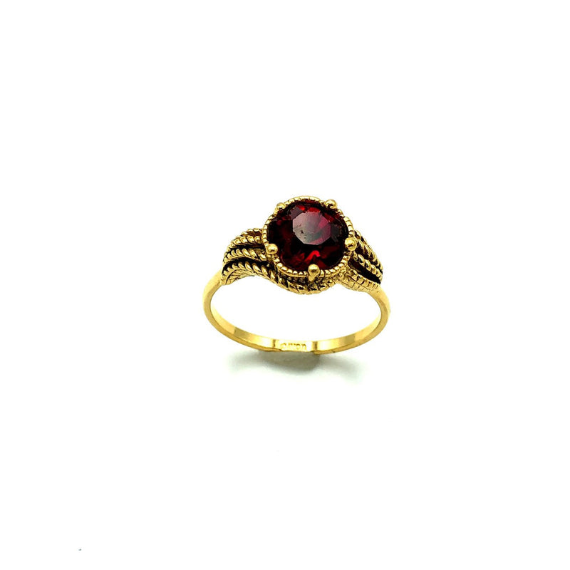 Avon Ruby Red Victorian Inspired Vintage Cocktail Ring