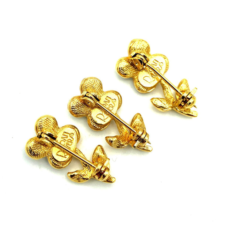 update alt-text with template Joan Rivers Gold Rhinestone Flower Vintage Scatter Pin Set-Brooches & Pins-Joan Rivers-[trending designer jewelry]-[joan rivers jewelry]-[Sustainable Fashion]
