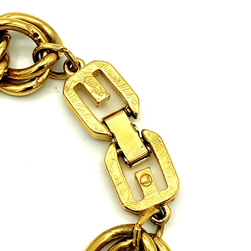 Givenchy Gold Double Link Stacking Chain Bracelet-Sustainable Fashion with Vintage Style-Trending Designer Fashion-24 Wishes