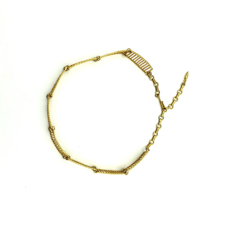 Vintage Vendome Gold Link Collar Necklace