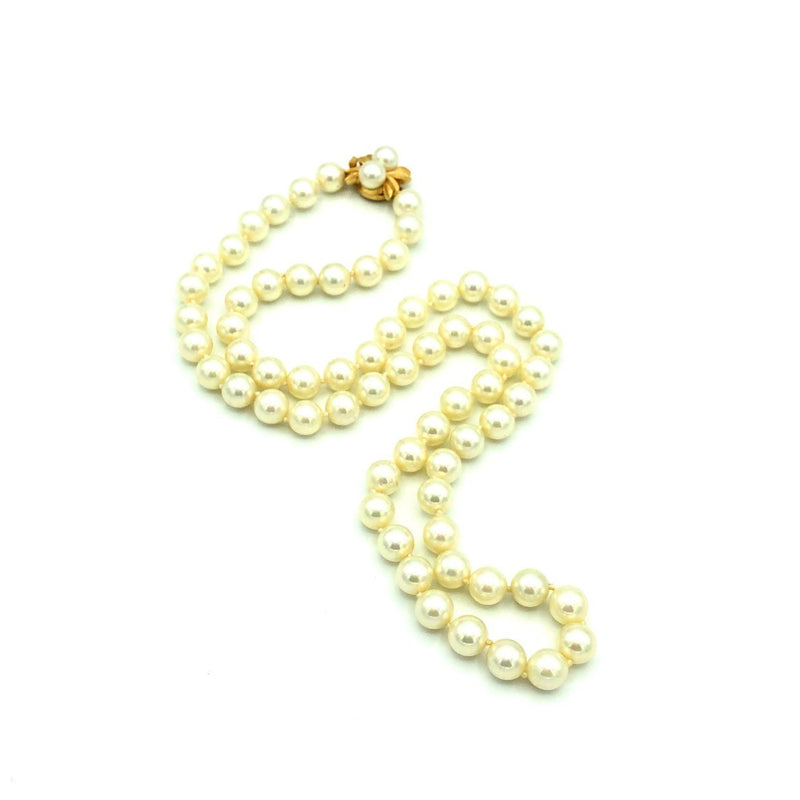 Vintage Classic Majorica Long Pearl Strand Necklace