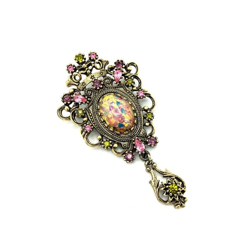 Sarah Coventry Pink Victorian Revival Vintage Brooch-Sustainable Fashion with Vintage Style-Trending Designer Fashion-24 Wishes