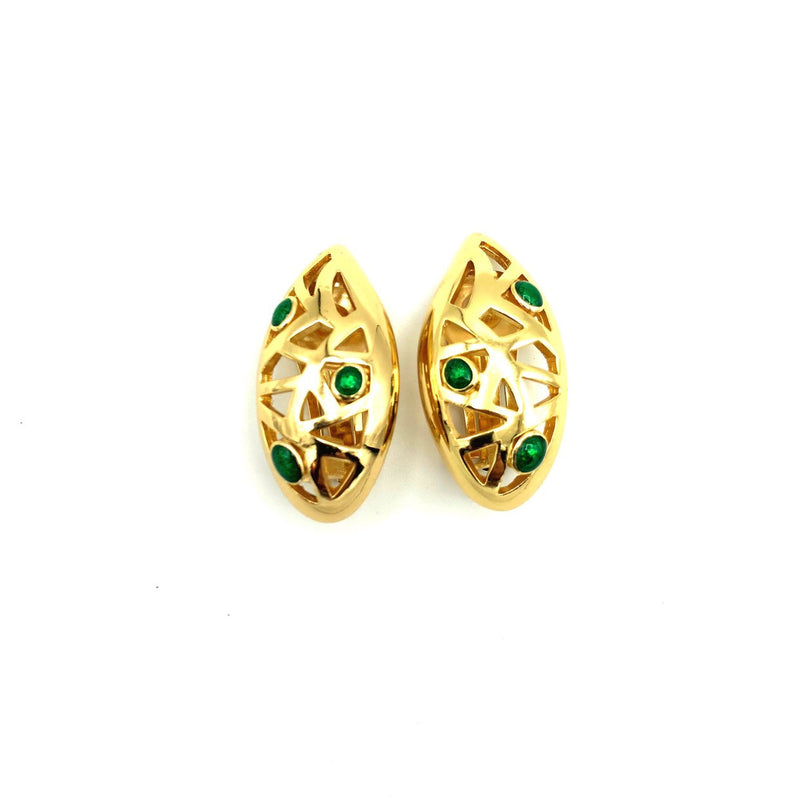 update alt-text with template Christian Dior Gold Abstract Vintage Clip-On Earrings-Earrings-Christian Dior-[trending designer jewelry]-[christian dior jewelry]-[Sustainable Fashion]