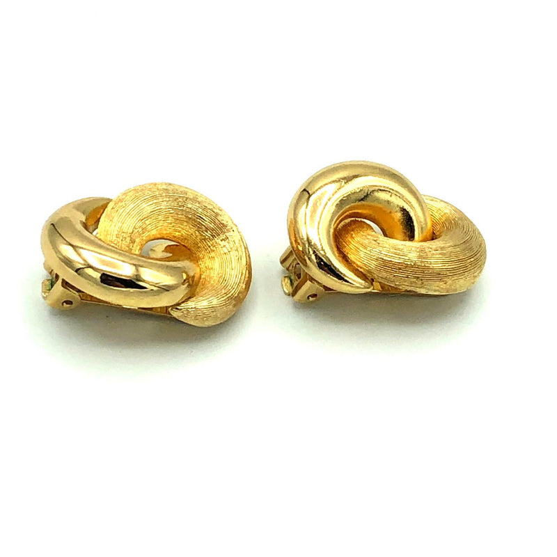 Christian Dior Classic Gold Knots Vintage Earrings