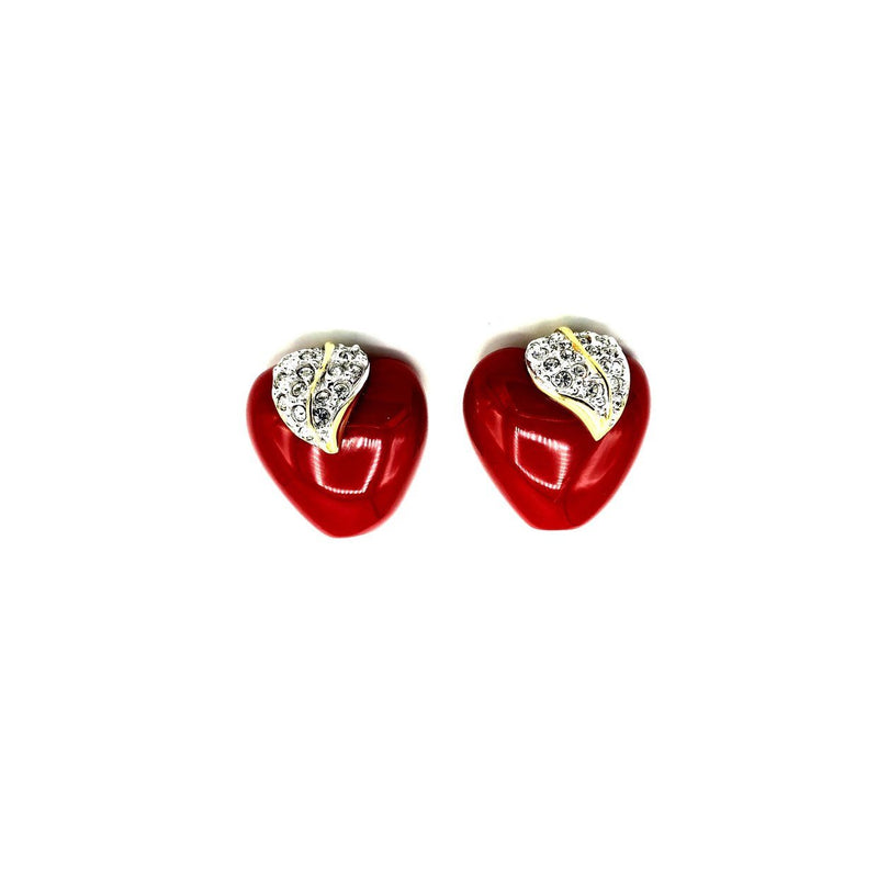 update alt-text with template Kenneth Jay Lane Red Shiny Apple NYC Clip-On Earrings-Earrings-Kenneth Jay Lane-[trending designer jewelry]-[kenneth jay lane KJL jewelry]-[Sustainable Fashion]