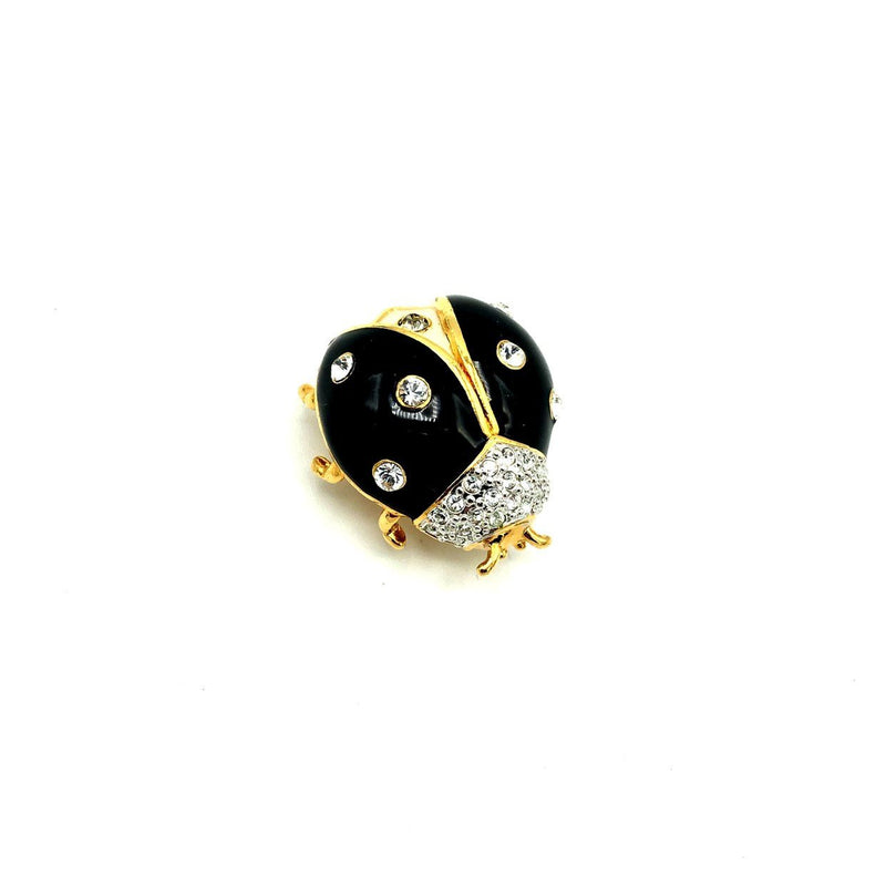 update alt-text with template Joan Rivers Black & White Enamel Ladybug Vintage Brooch Pin-Brooches & Pins-Joan Rivers-[trending designer jewelry]-[joan rivers jewelry]-[Sustainable Fashion]