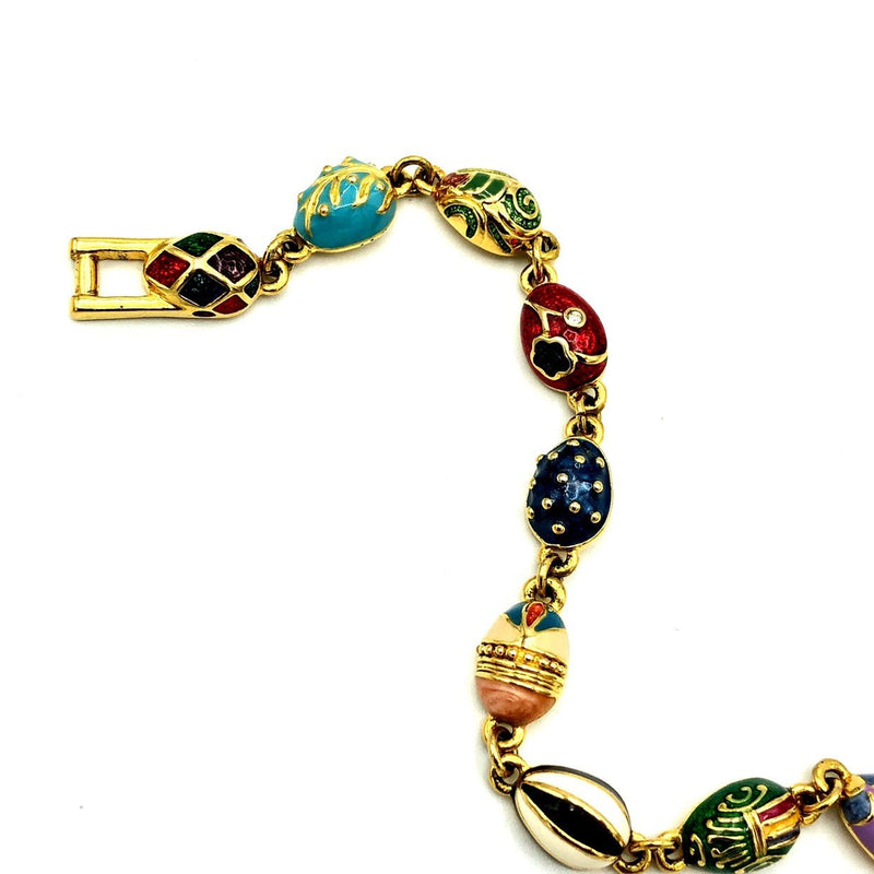 update alt-text with template Joan Rivers Enamel Faberge Egg Vintage Stacking Bracelet-Bracelets-Joan Rivers-[trending designer jewelry]-[joan rivers jewelry]-[Sustainable Fashion]