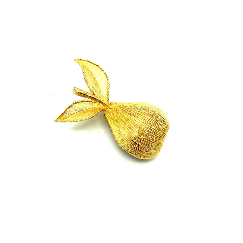 Gold Emmons Pear Vintage Brooch