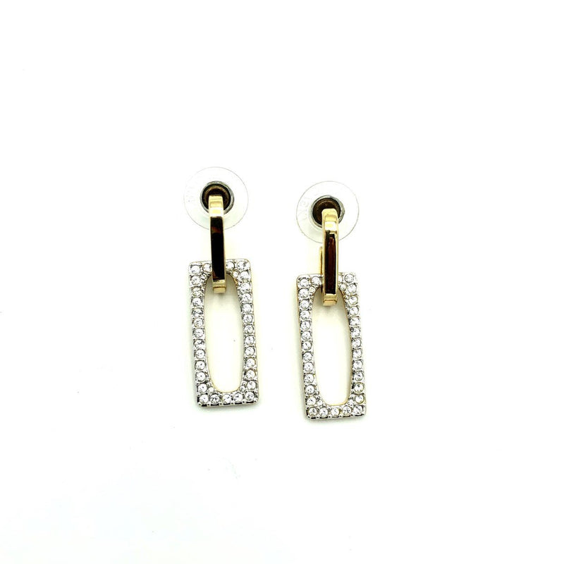 Swarovski Door Knocker Crystal Vintage Gold Earrings