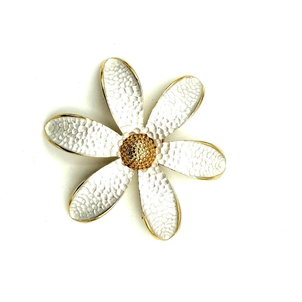 Vintage Gold & Silver Large Daisy Brooch