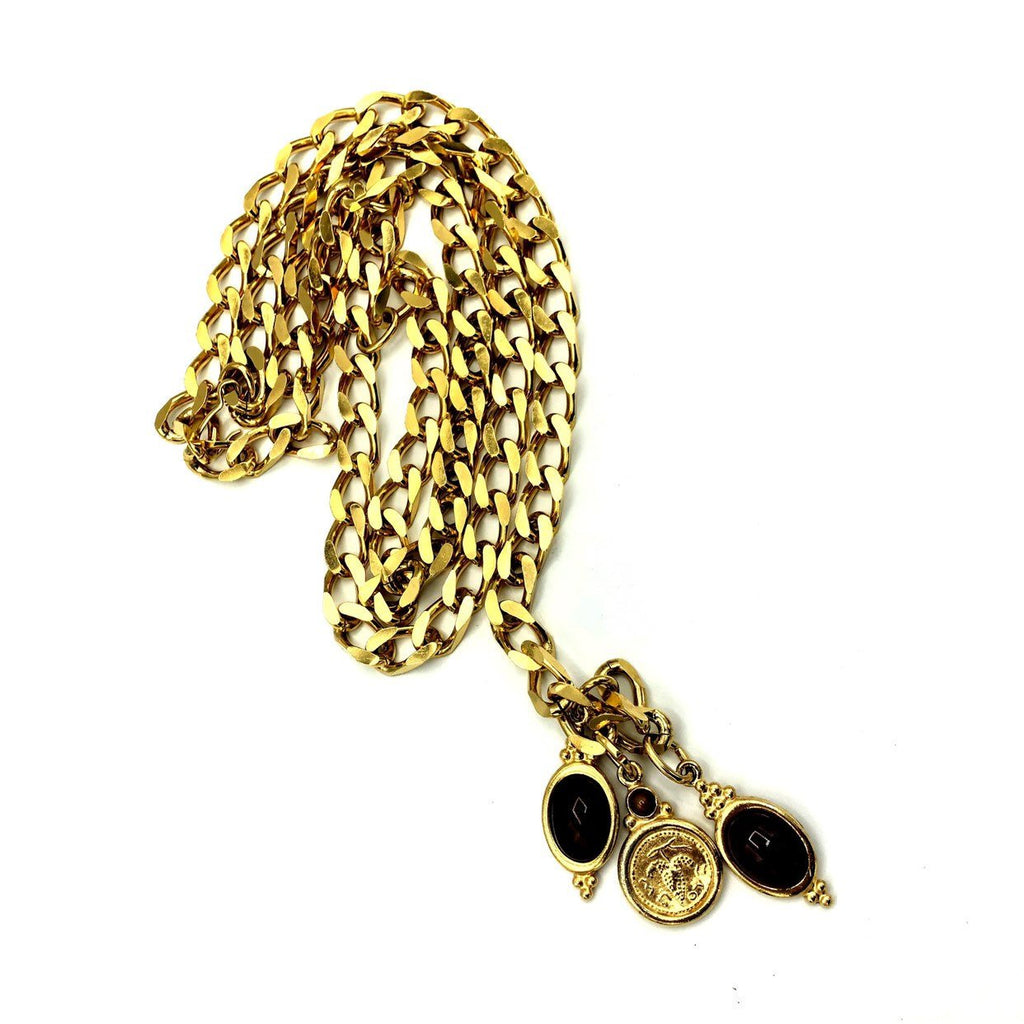 Accessocraft Gold Bib Chain Charm Vintage Belt-Sustainable Fashion with Vintage Style-Trending Designer Fashion-24 Wishes