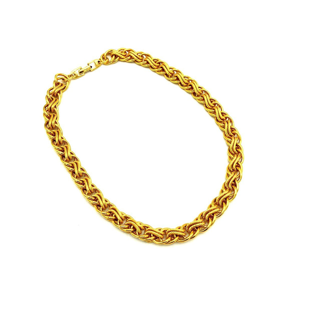 Napier Gold Chunky Long Vintage Layering Necklace