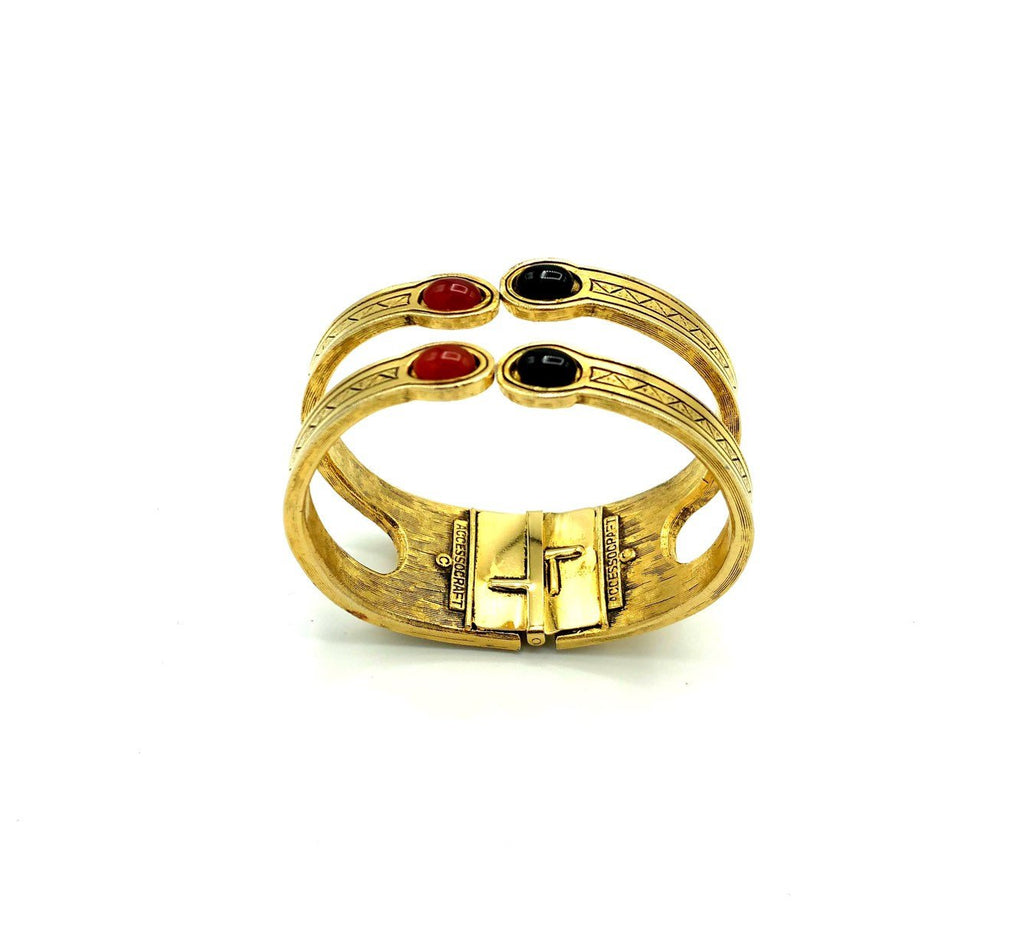 Accessocraft Egyptian Revival Hinged Vintage Bangle Bracelet