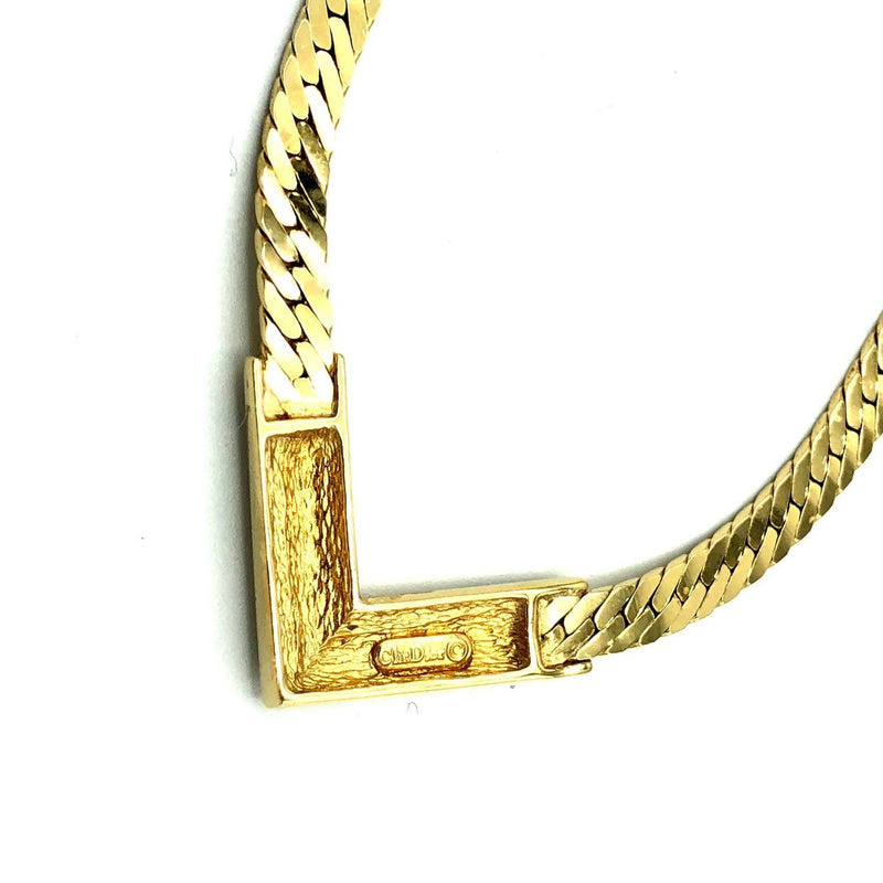 update alt-text with template Christian Dior Classic Rhinestone Vintage Gold Pendant-Necklaces & Pendants-Christian Dior-[trending designer jewelry]-[christian dior jewelry]-[Sustainable Fashion]