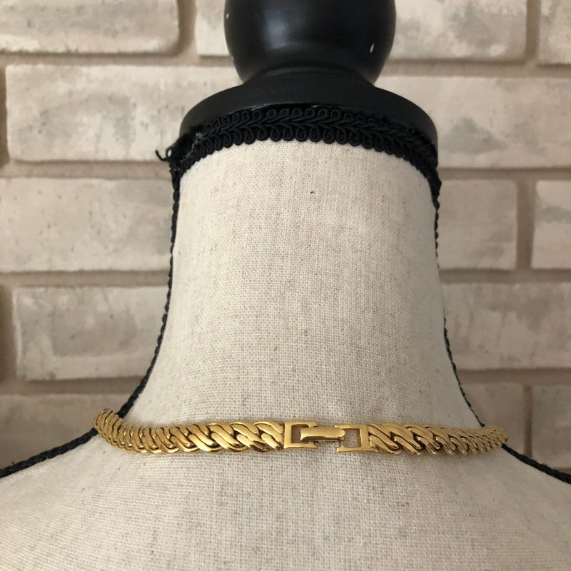 update alt-text with template Napier Gold Chunky Long Vintage Layering Necklace-Necklaces & Pendants-24 Wishes-[trending designer jewelry]-[napier jewelry]-[Sustainable Fashion]