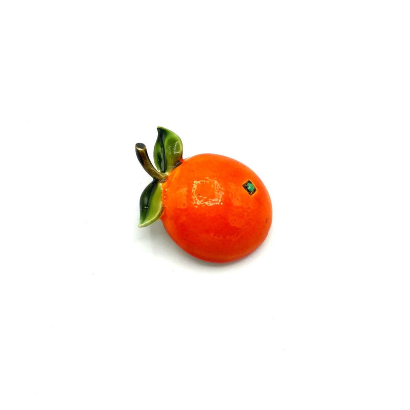Orange Enamel Fruit Vintage Brooch by HAR-Sustainable Fashion with Vintage Style-Trending Designer Fashion-24 Wishes