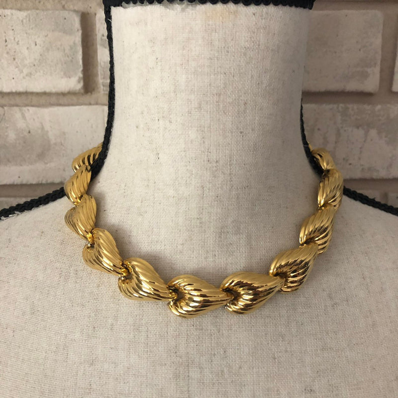 Anne Klein Classic Gold Heart Link Necklace