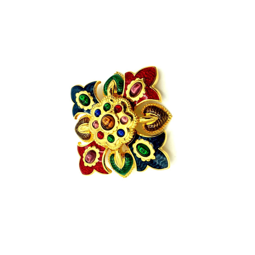 update alt-text with template Joan Rivers Colorful Enamel Maltese Cross Vintage Brooch-Brooches & Pins-Joan Rivers-[trending designer jewelry]-[joan rivers jewelry]-[Sustainable Fashion]